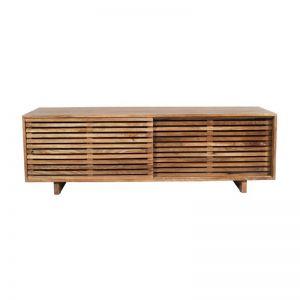 Modern Entertainment Unit | 2 Door | Solid Wood | 140cm