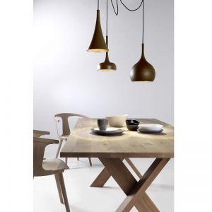 Modern LED Triple Pendants | Matt Brown and Copper | by Custom Lighting