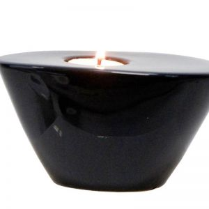 Modern Tealight Holder | Black | CLU Living | Large