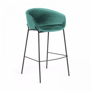Modine Bench Barstool | Emerald Green Velvet | CLU Living