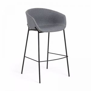 Modine Bench Barstool | Steel Grey | CLU Living