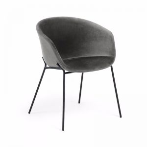 Modine Dining Chair | Pewter Grey Velvet | CLU Living