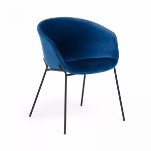 Modine Dining Chair | Royal Blue Velvet | CLU Living