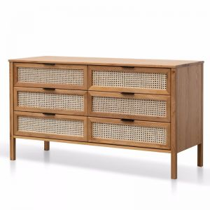 Molina Wooden 6 Drawer Chest | Natural
