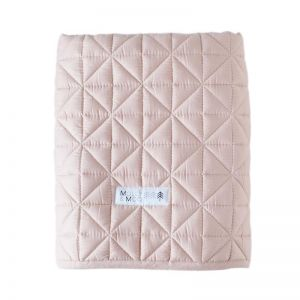 Molly & Moo Quilted Play Blanket   Blush