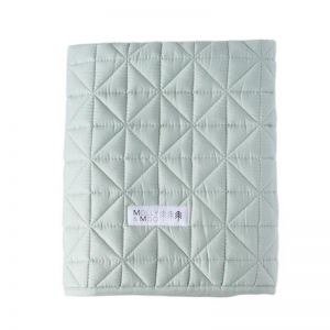 Molly & Moo Quilted Play Blanket   Muted Jade