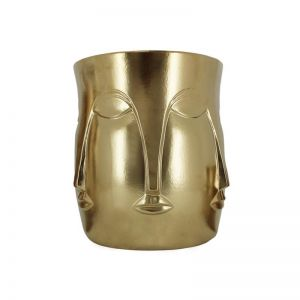 Mona Face Planter Large | Gold | CLU Living
