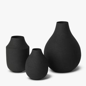 Mona Trio Vases | Black | L&M Home