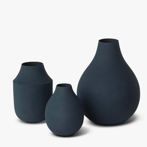 Mona Trio Vases | Blue | L&M Home