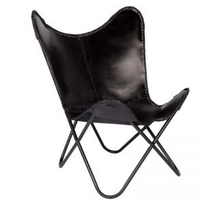 Monarch Leather Butterfly Chair | Fab Habitat