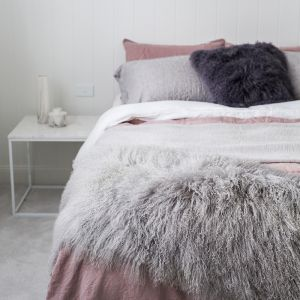 Mongolian Sheepskin Bed Runner | 180cm x 60cm | Various Colours
