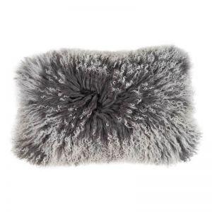 Mongolian Sheepskin Snow Tip Cushion | Lumbar | Various Colours