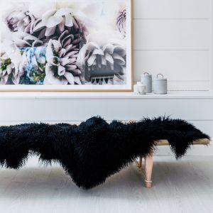 Mongolian Sheepskin Throw Rug   160cm x 90cm