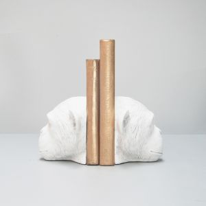 Monkey Bookends | White | White Moose