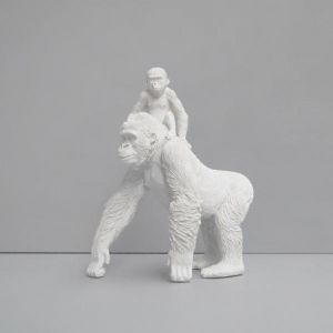 Monkey Mum | White | White Moose