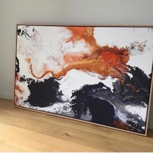 Mono Copper Canvas Print | Framed