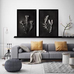 Monochrome Pins 2 | Set of 2 Art Prints | Framed or Unframed