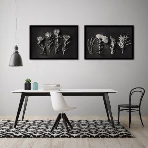 Monochrome Pins 3 | Set of 2 Art prints | Framed or Unframed