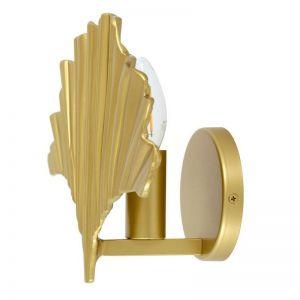 Monroe 1 Light Wall Bracket in Brass | Beacon Lighting