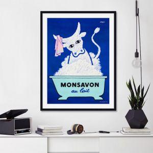 Monsavon Au Lait by Ray Savignac | Unframed Art Print