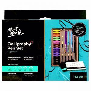 Mont Marte Calligraphy Set | Metal Tin 32pc