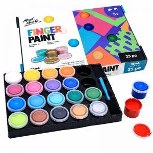 Mont Marte Kids | Finger Paint Set | 23pc x 35ml