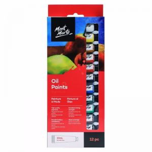 Mont Marte Oil Paint Set | 12pc x 12ml