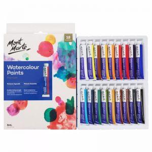 Mont Marte Premium Paint Set | Watercolour Paint | 18pc x 8ml