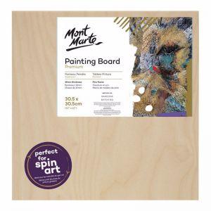 Mont Marte Premium Wooden Painting Board | 30.5 x 30.5 cm