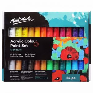 Mont Marte Signature Acrylic Paint Set | 24pc x 36ml | Tubes