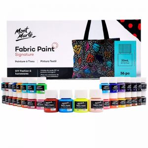 Mont Marte Signature Fabric Paint Set | 36pc | 20ml