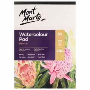 Mont Marte Watercolour Pad German Paper   A4 300gsm   12 Sheet