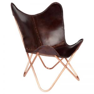 Montana Leather Butterfly Chair | Fab Habitat
