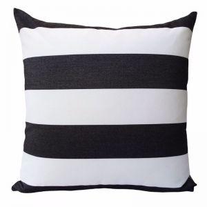 Monte Carlo Black | Sunbrella Fade and Water Resistant Outdoor Cushion | Outdoor Interiors