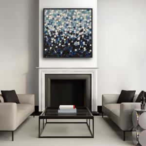 Moody Sea | Original Artwork Framed in Black Oak