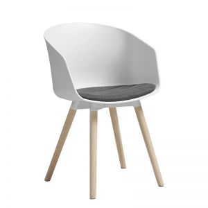 Moon Dining Chair | White & Natural