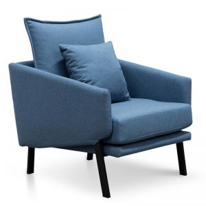 Moreno Lounge Chair | Blue | Interior Secrets