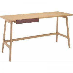 Morey Study Desk Natural Ash Veneer | Modern Furniture