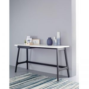 Morey Study Desk White and Black | Modern Furniture