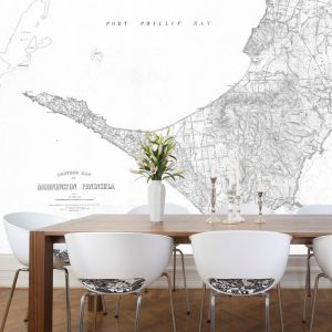Mornington Peninsula Vintage Map | Wallpaper