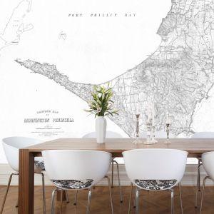 Mornington Peninsula Vintage Map | Wallpaper 300cm x 250cm