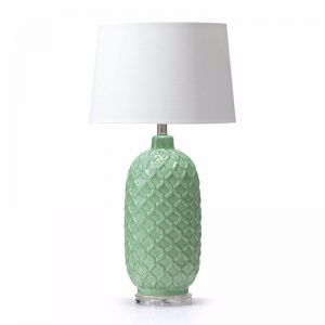 Morocco Ceramic Table Lamp | Mint or White | by Black Mango
