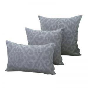 Morocco Silver Grey | Sunbrella Fade and Water Resistant Outdoor Cushion | Outdoor Interiors