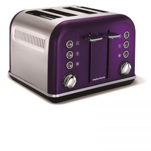 Morphy Richards Accents 4 Slice Toaster | Plum