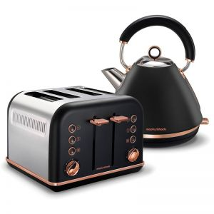 Morphy Richards Accents Rose Gold Traditional Toaster & Kettle Pack