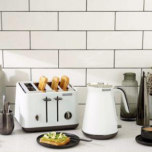 Morphy Richards Aspect | Black Chrome Kettle & Toaster Pack | Lux White