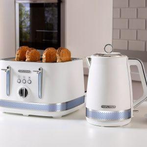 Morphy Richards Illumination | 1.7L  Kettle & 4 Slice Bread Toaster | White