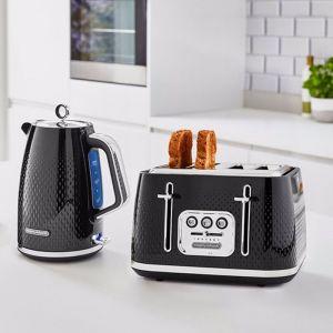 Morphy Richards Verve | 1.7L Jug Kettle & 4-Slice Toaster Set | Black