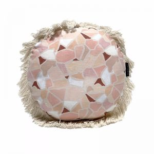 Mosaic Round Cushion | Earth