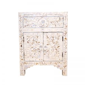 Mother of Pearl Inlay Bedside Table